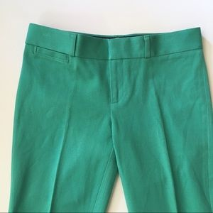 mint teal green tapered leg cigarette pant trouser